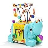 TOP BRIGHT Elefante Centro de Actividades - Cubo Interactivo de 5 Lados para Bebés de 1 año - Mesa de Actividades para Niños y Niñas - Juguete Didáctico para Desarrollo Habilidades Motoras