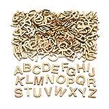 Baker Ross AW350 Letras mayúsculas de Madera en Miniatura para Decorar Manualidades, Madera, Paquete de 260