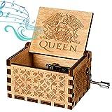 Funmo Caja de música de Madera, Queen Pure Hand-Classical Caja de música Hand-Wooden Artesanía de Madera Creativa Best Gifts