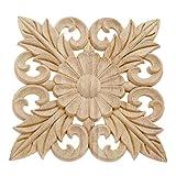 4 molduras de madera para tallar adornos de husos de flores, cesta tallada para carpintería de esquina para muebles de pasillo de 15 cm