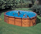 San Marina Pools - Piscina de Madera Island 635 x 420 x 120 cm + depuradora de Arena Gre