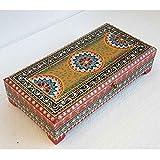 Casa Moro Joyero oriental Karisma pintado a mano, caja de madera multicolor, idea de regalo original para mujer, novia, día de la madre, RK11-30-B