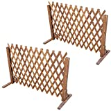uyoyous Enrejado de madera extensible hasta 160 cm, 2 unidades, plegable, variable, ajustable, independiente, para jardín, balcón, terraza