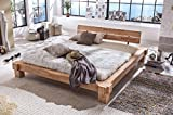 Palermo cama matrimonial madera maciza de haya madera maciza de barra cama tamaños a elegir 140/160/180/200, haya, madera de haya, 180 x 200