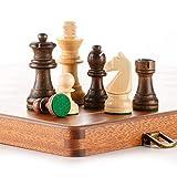 FIBVGFXD Juegos de ajedrez de Madera para Adultos, Ajedrez de Madera Plegable Refinado de Grado, Tablero de ajedrez de Madera Maciza Juego de ajedrez de Torneo Profesional, 38Cm * 38Cm * 2.8Cm