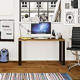 Hogar24-Mesa Estudio Escritorio de Madera Maciza Natural y Patas de Acero, Medidas 118 x 55 x 74 cm. Estilo Industrial para Uso como Escritorio, despacho, reunión