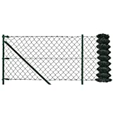 [pro.tec] Set completo valla cerca - malla de alambre de acero galvanizado (1m x 25m) verde