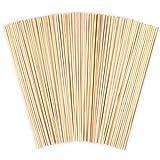 100 Piezas Palos redondos de madera, ANSUG barras de pasador de bambú natural inacabado para DIY artesanía modelo de construcción para niños juguetes educativos