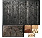 LucaHome – Alfombra bambú Uganda Ideal para Interior o Exterior, Alfombra bambú para Cocina, salón, despacho, Dormitorio con Cenefa, Alfombra de bambú Antideslizante (Dark Grey, 120x180cm)