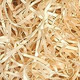 Virutas de Madera para Rellenos de Regalos cestas y lotes, Material de embalage Natural con Madera secada al Horno Natural 1 Kilo