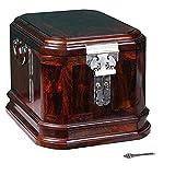 QVQV Joyero Chino clásico, joyero de Palisandro Rojo Caja de Espejo de Madera en General Joyero Caja Madera Almacenamiento de joyería Artesanal Caja de Muebles y Regalos orientales