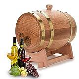 Victool Barril Roble,Dispensador de Barril de Madera de Roble de Madera para Whisky Bourbon Tequila Vintage 3L