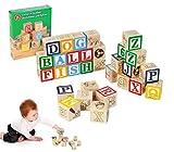 98304 Playset educativo de cubos de madera con animales letras y números 3x3 cm