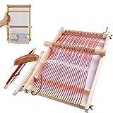 BangShou Telar de Madera Kit de Telar de Telar para Manualidades Varilla de Ajuste, Peine, Lanzadera y Cordón de Nylon (40 x 20cm)