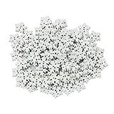 100 Piezas De La Novedad Copos De Nieve Blancos Botones De Madera De 17 Mm Adornos De Artesanía