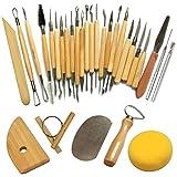 Cozyswan [30 Piezas] Conjunto de herramientas para tallar esculturas, Modelo Herramientas y accesorios Tallar cuchillo de escultura de madera para alfareros / artistas de cerámica