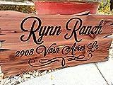 unknow Signos de madera de regalo letreros personalizados de madera letreros de madera personalizados Signos de madera Signo de madera Signo de nombre de familia Señal de cabina impresa