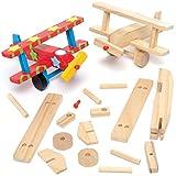 Baker Ross Kits de avión de madera 3D - Ideal para manualidades, regalos, recuerdos y más para niños (paquete de 2)