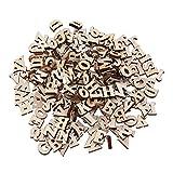 SUPVOX 100 UNIDS Letra del Alfabeto De Madera Piezas Sin Acabar Recortes de Madera Madera Slice Scrapbooking Adornos 15mm