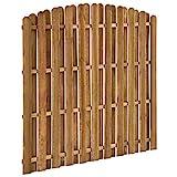 Festnight Panel de Valla de Jardín de Madera de Pino Vallas de Madera para Jardin Valla para Exterior 180x(155-170) cm