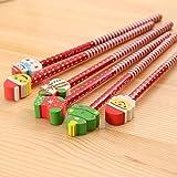 Matita cartoon Babbo Natale, 30 confezioni, adatta a bambini, adolescenti e adulti, matita scuola Hb adatta per dipingere, scrivere 19,5-21 cm