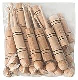 Badajo en una bolsa de 20 (10x juego de 2) de madera - artesanía tradicional