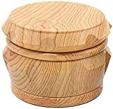 PGKCCNT Grinders Premium Zinc Aleey Grinder 63mm Grano de Madera Plastic Herb Grinder Fumar Accesorios para Fumar Adecuado para la mayoría de Las amoladoras herbales (Tamaño: 63mx46mm / 2.5x1.8inch)