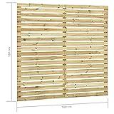 GOTOTOP Panel para valla de jardín de madera de pino impregnado, 180 x 180 cm