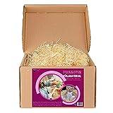 Virutas de madera ideal como material de relleno para embalaje - Paja decorativa para cestas y paquetes de regalos (1 kg)
