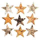 Baker Ross Estrellas de corteza de árbol para decoraciones y manualidades infantiles navideñas (pack de 30).