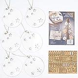 VINTIUN Bolas de Navidad Personalizadas con Nombre, Decoración Navideña Original para Arbol, Mesa, o Invitados (Blanco, Pack 6)