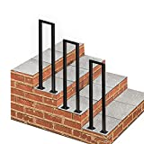 Barandilla de transición de Metal Negro para Pasos de concreto de Cemento y Pasos de Madera  Pasos al Aire Libre Stair Barandal  Piquete de la barandilla para Pasos Exteriores  Rieles de Mano Mate