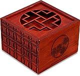 Secret Box Pine. Rompecabezas de Madera. Caja de Seguridad. Apertura Secreta.