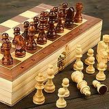 CTDMMJ Ajedrez de Madera magnético Plegable Niños Adultos Principiante Tablero de ajedrez Grande 39cm * 39cm