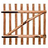 Portillo de valla de madera de corylus impregnar 100x 100cm