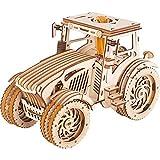 GuDoQi Puzzle 3D Madera, Maqueta de Tractor Madera para Montar, Rompecabezas Madera 3D para Construir, Kit de Manualidades DIY, Juguete de Montaje, Pasatiempos para Adultos