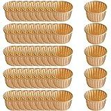 Gsrhzd Prueba De Aceite Molde Cupcakes, Moldes Magdalenas Papel, 50 vasos desechables de papel a prueba de grasa de 50x40 mm para hornear pasteles en fiestas, bodas, vacaciones (color madera)