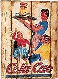 RetroReclamos Cuadro de Madera Vintage Cola-CAO