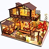Fsolis Miniatura de la casa de muñecas con Muebles, Equipo de casa de muñecas de Madera 3D, más Resistente al Polvo y el Movimiento de música Regalo Creativo