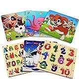 StillCool Puzzles de Madera 20 Piezas, Animales Rompecabezas de Madera Coloridos para Niños Pequeños Aprendizaje Rompecabezas Educativos Juguetes para Niños y Niñas 3-5 Años de Edad (6 Puzzles)