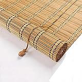 Estor Enrollable de Bambú,Estores para Ventana,Cortina de Madera,Persianas de Bambú para Interior/Exterior,Opacas,Protección Solar,Pantalla de Privacidad,Medida Ancho X Alto (W90xH120cm/36x47in)