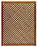 Celosía De Madera Tratada para Decoración De Terrazas, Jardines y Exteriores - Teca (114x92 cm)