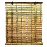 Solagua 14 Medidas de estores de bambú Cortina de Madera persiana Enrollable (150 x 175 cm, Roble)