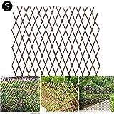 N/H 2PCS Celosía de Madera,Panel de la Cerca del Jardín La expansión de la Cerca Madera Pared Enrejado expansión jardín Flor Planta Escalada Valla marrón Decoración para Jardín Balcón Patio