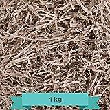 Creative Deco 1 kg Eco Papel Triturado Kraft | Reemplazo de Lana de Madera | Relleno Material de Embalaje para Cesta, Caja, Paquete, Viene en Embalaje Azul