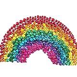 ManYee 500 Piezas Cuentas Redondas de Madera Colores Abalorios de Madera Natural Bolitas de Madera para Hacer Pulseras Collares Manualidades DIY 6/8/10/12/14MM 6 Colores