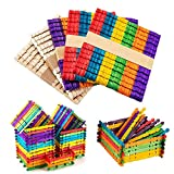 Allazone 250 Pz Natural Palitos de Madera Palos para Manualidades Madera Palitos De Madera Manualidades para DIY artesanías, Diseños Creativos, Madera