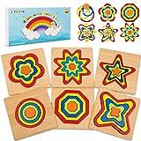 lenbest Puzzles de Madera Educativa, Puzzles de Juguetes para Niños, Infantiles Puzzles de Madera Educativas para Niños Mayores de 3 Años Rompecabezas de Madera Juguetes para Niños, Cumpleaños