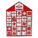 By Robelli Calendario de Adviento grande de madera con cajones (44 cm), diseño de Navidad