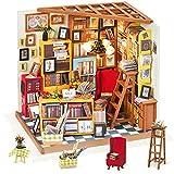 Rolife Miniature Dollhouse Kit DIY Biblioteca de Madera Modelo de casa para niñas y niños niños 14 15 16 17 años de Edad hasta(Sam's Study)